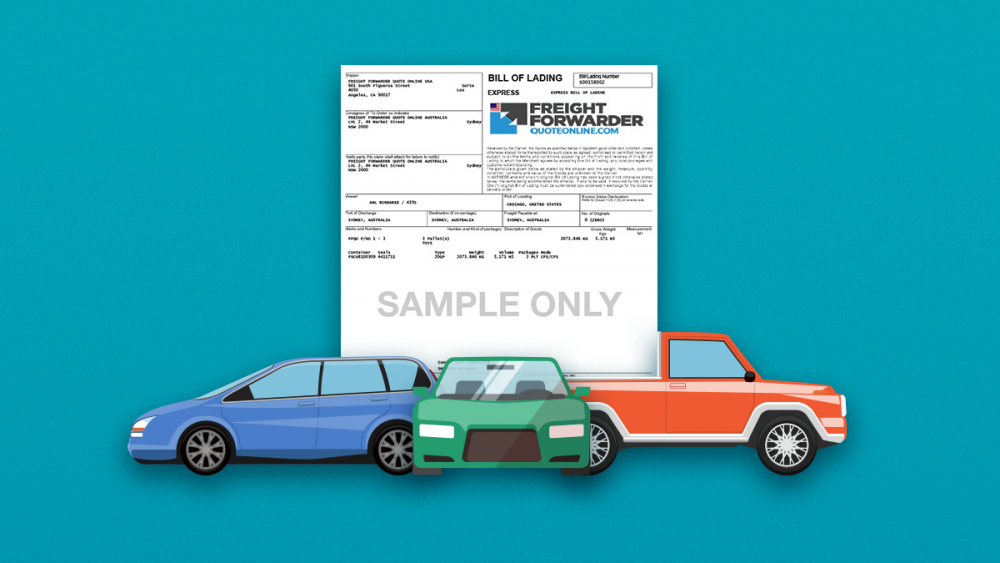 car shipping documents