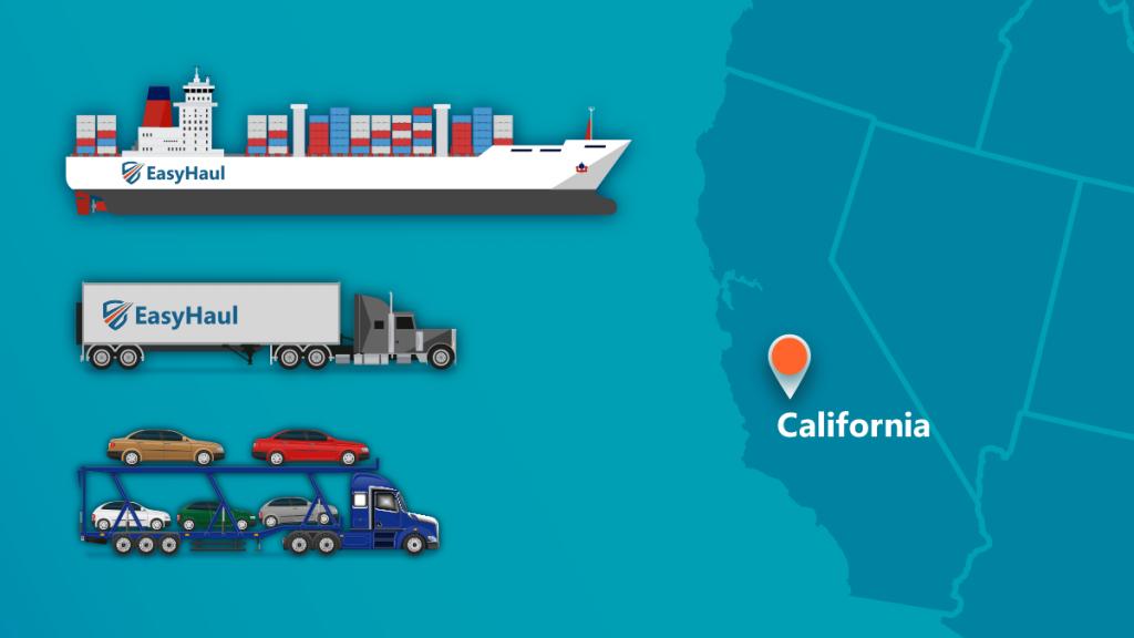 shipping a car to California